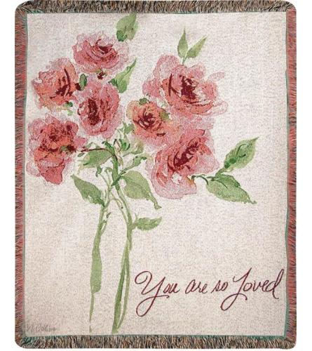 You Are So Loved Afghan Throw