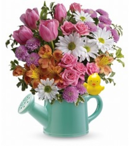 Spring Watering Can Bouquet