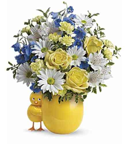 Sweet Peep Bouquet Baby Blue