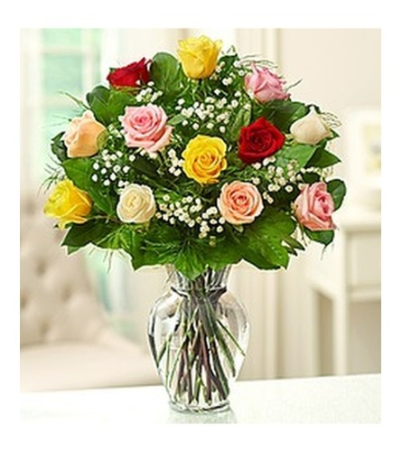 Dozen Mixed Roses Bouquet