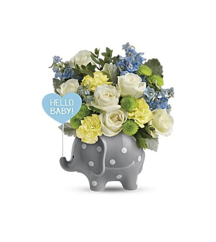 Teleflora's Sweet Baby Blue Elephant