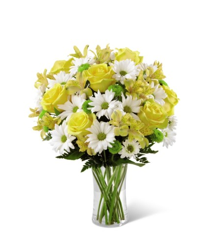 The FTD Sunny Sentiments Vase