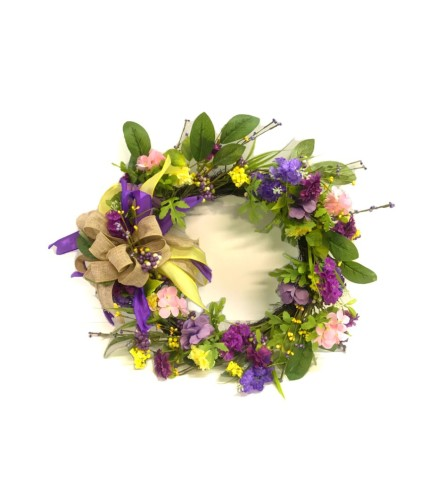 "Faux 20"" Spring/Summer Wreath"