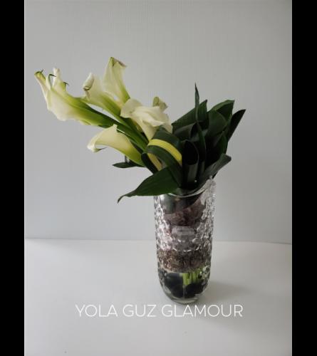 Luxurious White Calla Lilies
