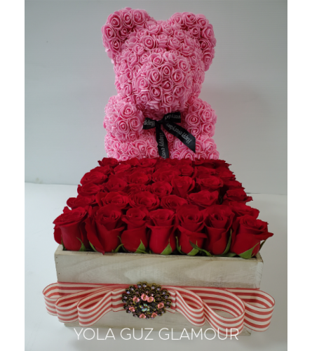 Channel Roses and Bear