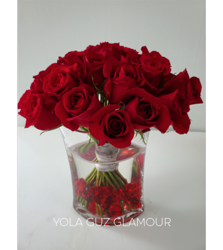 Red Roses with  Modern Rock