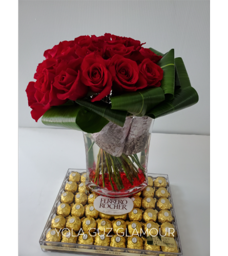 Luxurious Roses and Chocolate