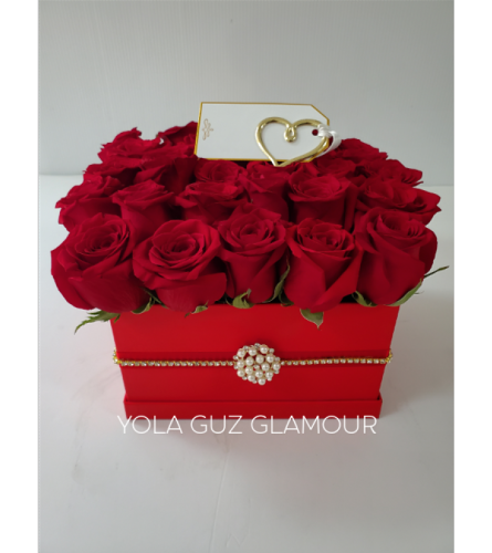 Channel Roses in a Box