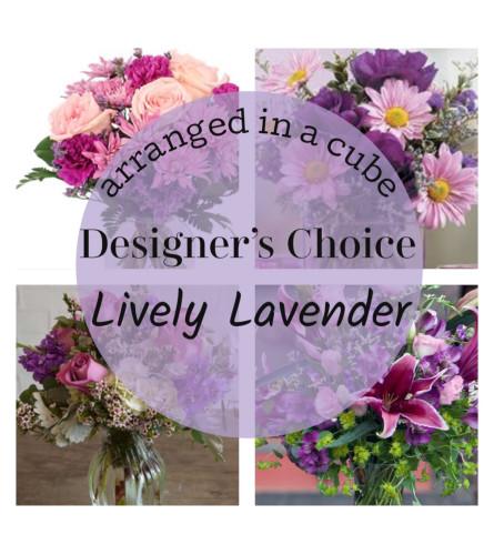 Lavender Cube Arrangement