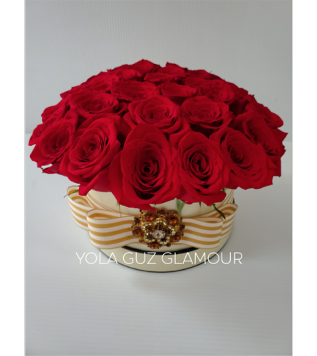 Channel Roses In Beige Box