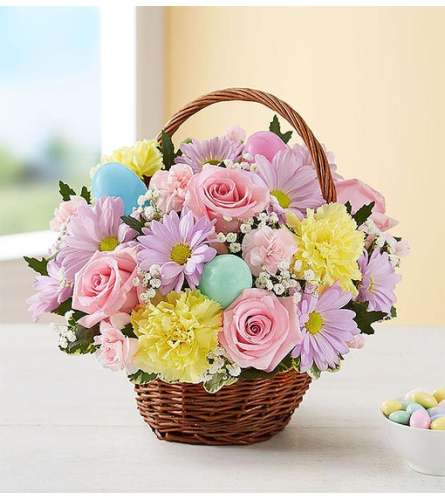 HAPPY EASTER EGG BASKET
