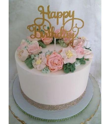 Cake- Buttercream Floral Wreath