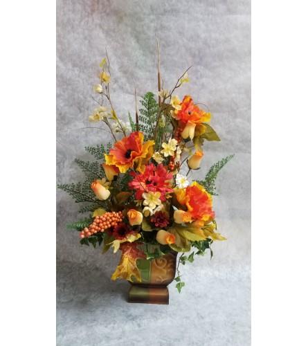 Unique Silk and wooden rose arrangement
