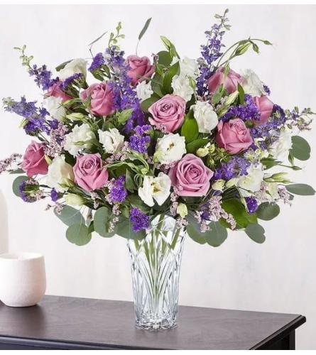 Lavender and White Luxury Vase