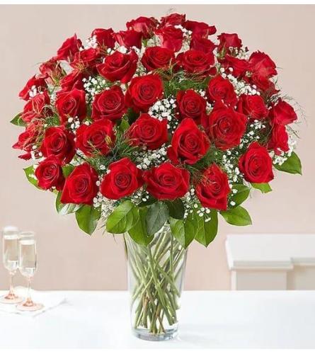 60 Long Stem Red Roses Glamour