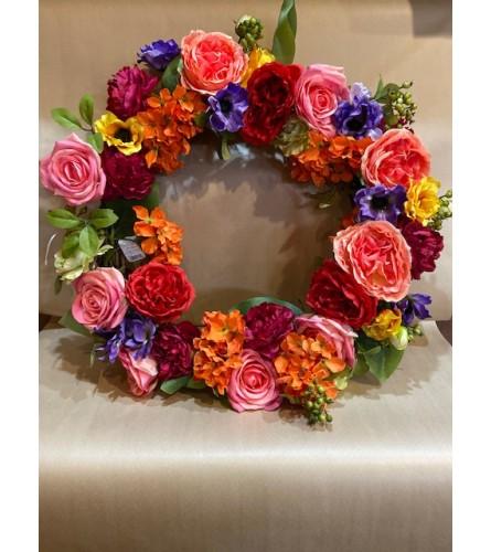 Over the Rainbow Floral Wreath