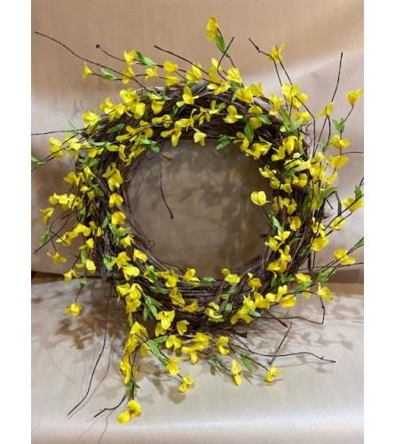 Forsythia Grapevine Wreath