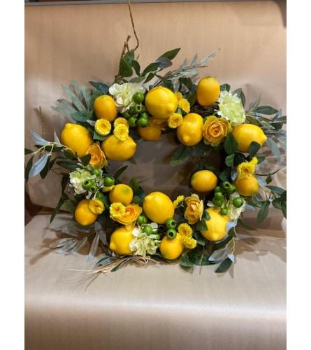 Sunny Lemons Wreath