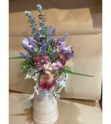 Farmhouse Iris & Lavender Pitcher
