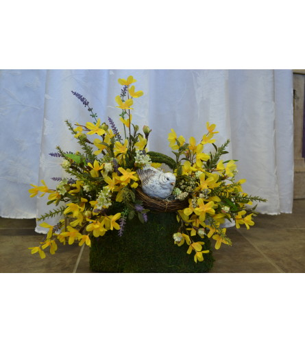 Spring Nesting SILK arrangement