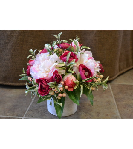 Peony Pink Delight SILK Arrangement
