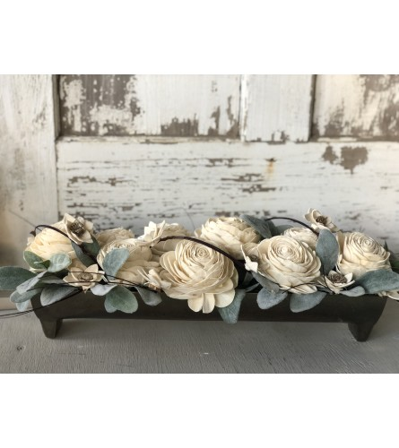Wooden Flower Centerpiece