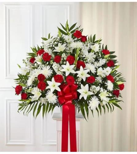White and Red Tribute Basket