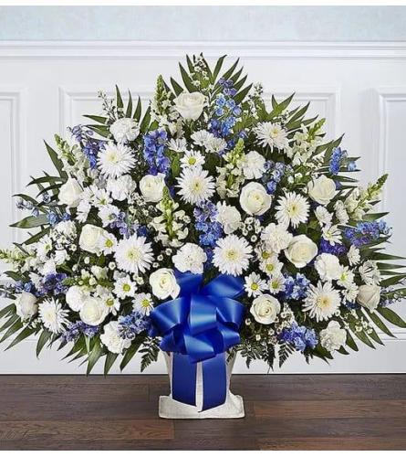 Blue And White Tribute Basket