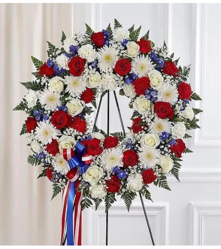 Patriotic Open Wreath