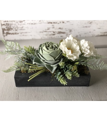 Rose Succulent Centerpiece