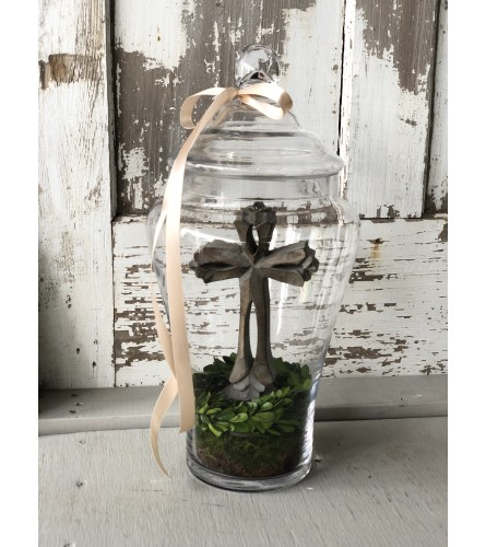 Cross in Apothecary Jar