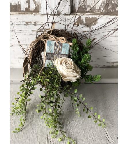 Mini Wreath with Cross