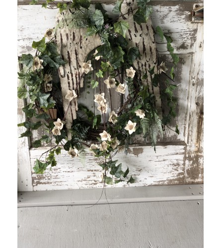 Angel Wings in a Wreath