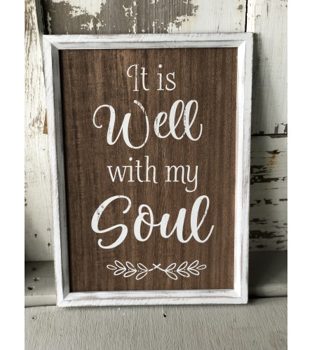 It Is Well With My Soul Sign