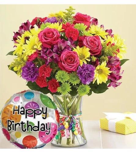 Birthday Celebration Vase