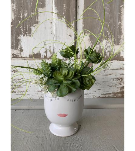 Large Succulent Lady