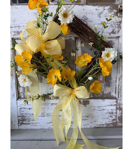 Cheerful Yellow Wreath