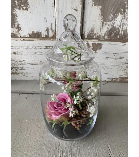 Varied Silk Floral Jar