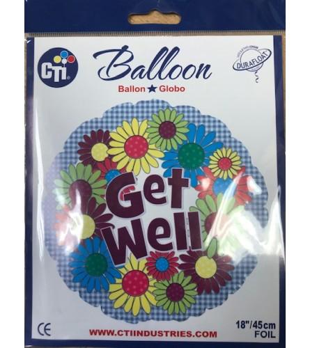 Get Well Helium Balloon