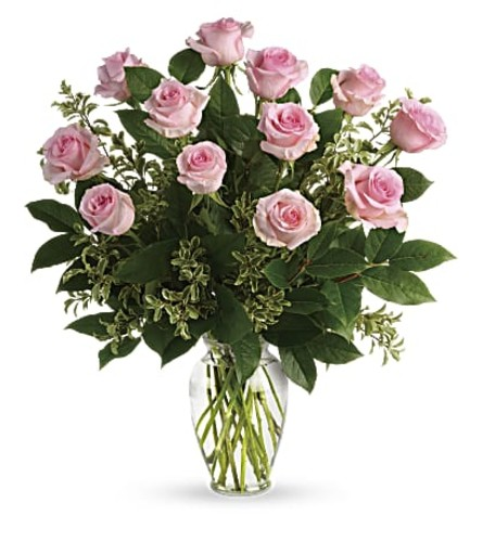 Say Something Sweet And Pink Dozen Roses
