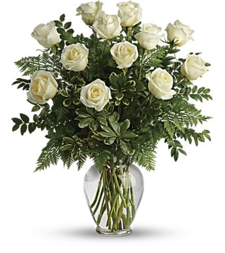 The Joy Of White Dozen Roses