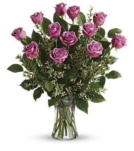 Hey Gorgeous Lavender Dozen Roses