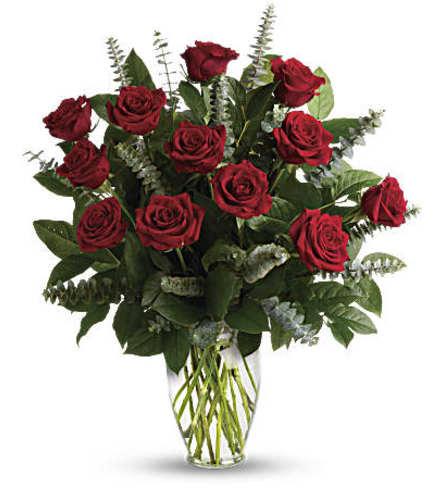 Red Eternal Dozen Roses