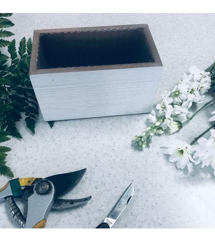 Custom Artist Design in White Wooden Box