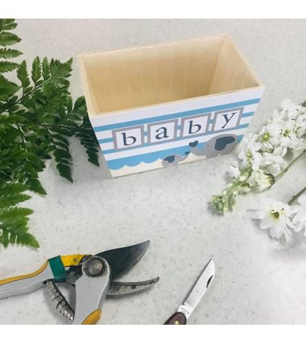 "Custom Artist Design in ""Baby Boy"" Wooden Box"