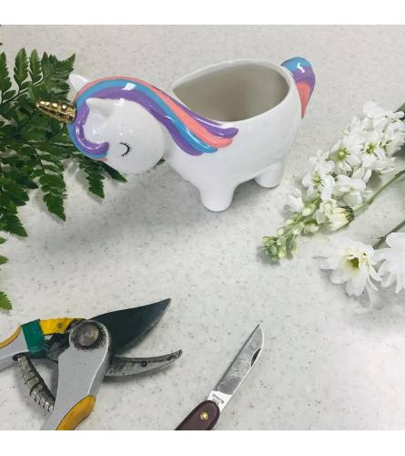 Custom Artist Design in Ceramic Unicorn