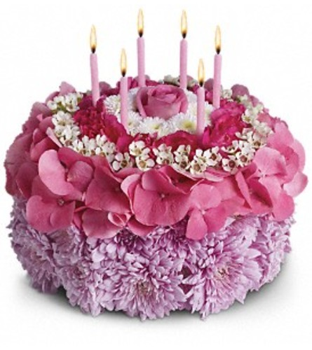 Your Special Day Floral Birthday Cake