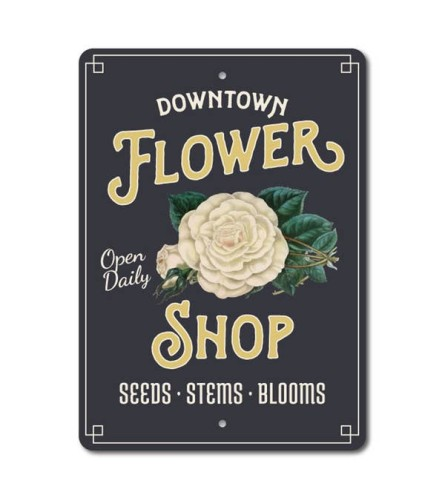 Downtown Flower Shop Sign