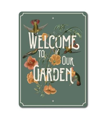 Garden Welcome Sign