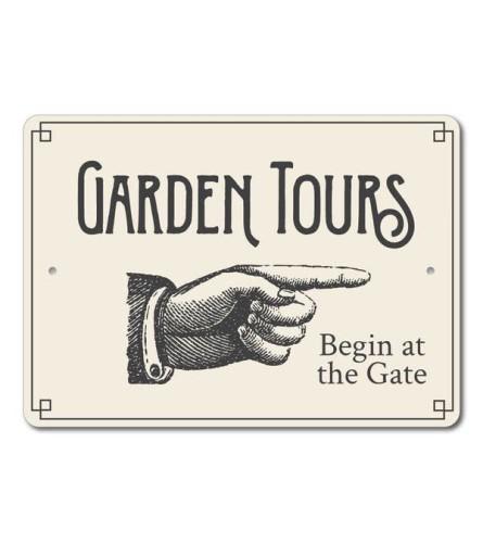 Garden Tours Directional Sign